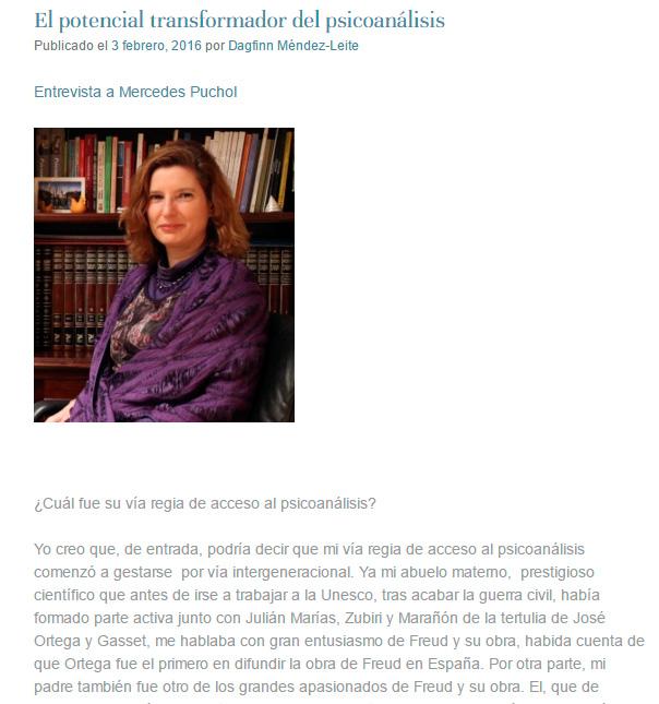 El potencial transformador del psicoanálisis por Mercedes Puchol